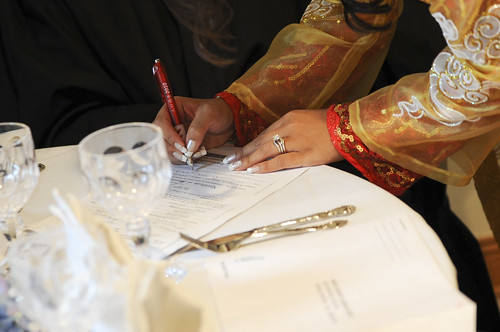 Signing into marriage