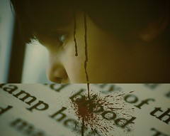 All I feel is pain... (`Anonymous) Tags: by book pain blood sad sony bleeding alpha anonymous fahad justanidea qtr macro50mm 3bdallah almarri diptychphotography mshallah portrait50mm el3bd 3beed 3bodpp saddarkmood