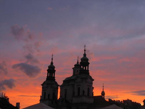 Anochecer. Praga