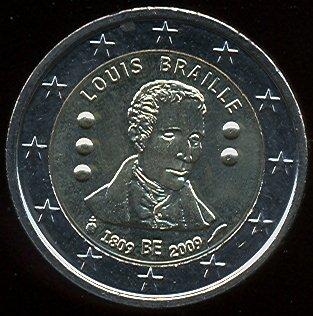 2 euro Belgicko 2009, Louis Braille