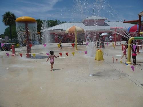 splash area.