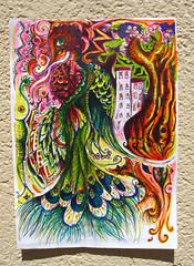 Gibson Girl finds blotter (pourmore) Tags: birds breasts psicodelia trippy psychedelic rotulador demarcha mediamixta okupalandia