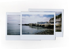 (Samuel Norris) Tags: uk trees sea england man green swimming project polaroid student rocks waves centre cement wide plymouth barbican made 200 hoe manmade layer i