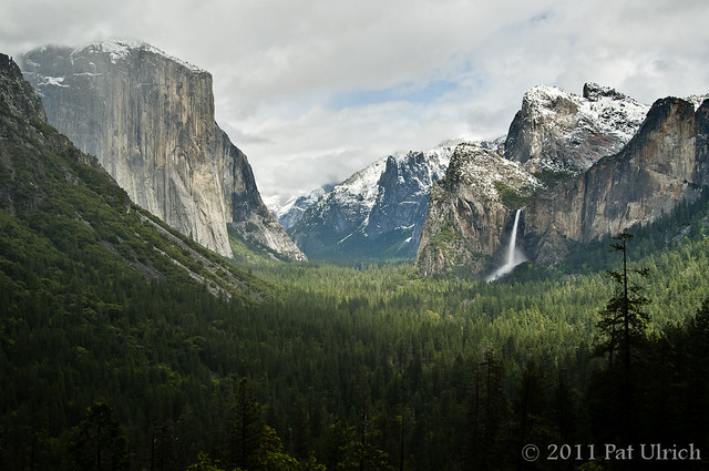 Tunnel View during spring storm, Yosemite National Park