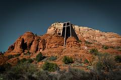 (onesevenone) Tags: red arizona mountains rock landscape rocks cross sedona chapel holy redrock
