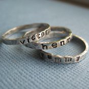Tiny Personalized Stacking Ring