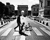 father and son // montpellier (southfrance) (pamela ross) Tags: street boy shadow bw sun bike pen father son olympus montpellier ep1 stphotographia