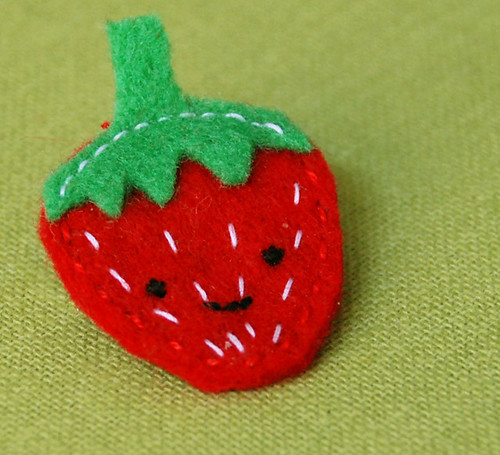 Smiling Strawberry Brooch