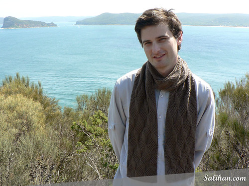 Richard Wearing Asherton Reversible Scarf