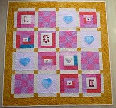 love quilt (alda_kimafi) Tags: quilt patchwork lovequilt kreuzstich stickenundstaunen
