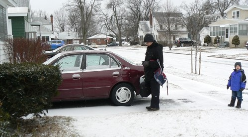Car goes on last trip to school and work