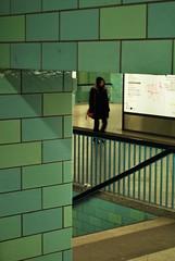 Directions (Alificacion) Tags: blue berlin stairs geometry diagonal tiles ubahn alexanderplatz