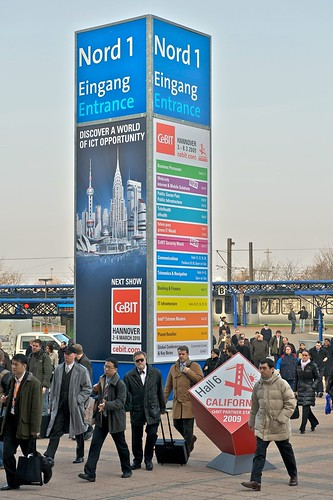 Bus #1-- arrivals at CeBit