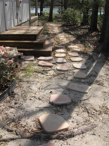 side yard progress front