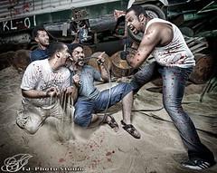 Someone's Nightmare (Jamal Alayoubi) Tags: lighting dave night canon studio blood kill outdoor mark iii hill nightmare junkyard kuwait 1ds jamal faisal strobist alayoubi albisher fjphoto