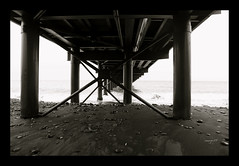 Under the bridge (semaryp) Tags: bridge black reunion island pier sand noir post pillar sable stpaul pebble pont poteau pontoon ponton jetée pilier semaryp