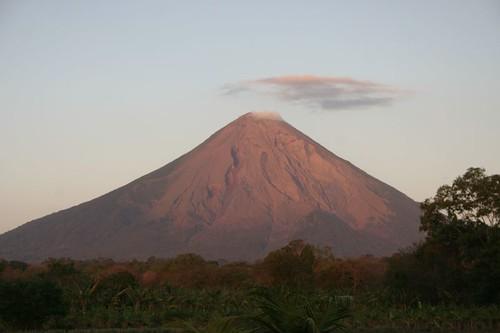 Sunset light on Volcan Concepcion, Isla Ometepe - Nicaragua...