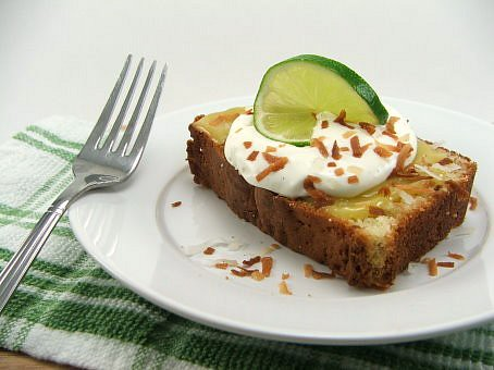 Toasted Coconut Pound Cake with Lime Curd