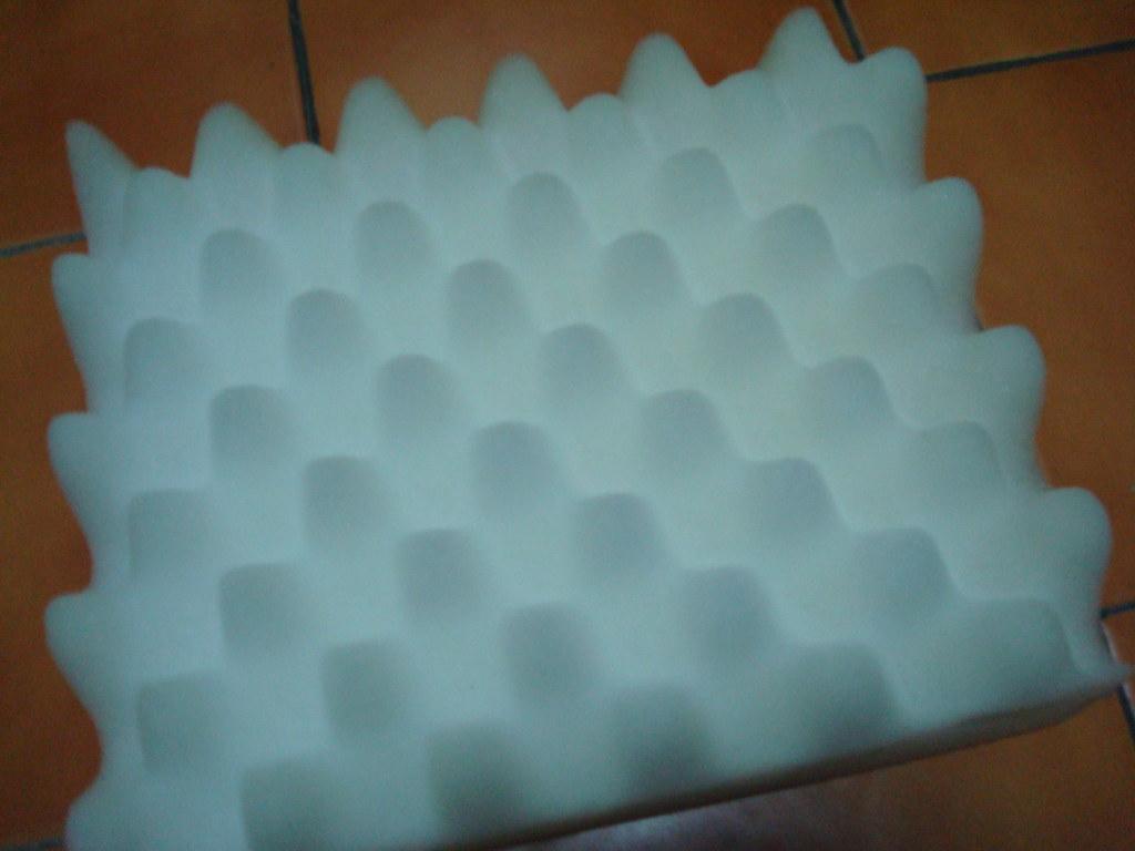 準備一個厚海棉墊