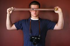 Self Portrait (Caleb?) Tags: camera portrait film self canon nikon n2000