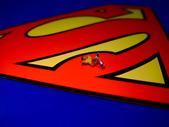 "Laying On My ""S"" (JD Hancock) Tags: favorite scale comics miniature little small perspective superman explore cc tiny figure superhero comicbooks ho dccomics superheroes 1k hoscale nogeo littledudes inkitchen jdhancock"