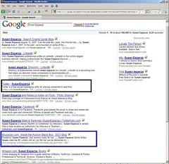 Susan's Google SERP