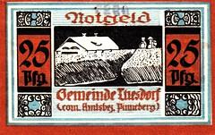 Thesdorf, 25 pf, (Iliazd) Tags: germany inflation notgeld papermoney germancurrency emergencymoney germanpapermoney