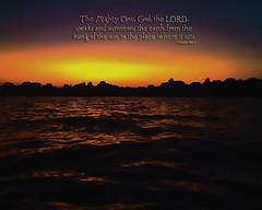 Where it sets (WELS.net) Tags: sunset sky orange sun lake set waves streams psalm wels jduran