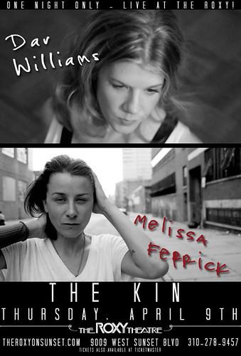 Dar Williams/Melissa Ferrick/The Kin 4/9/09