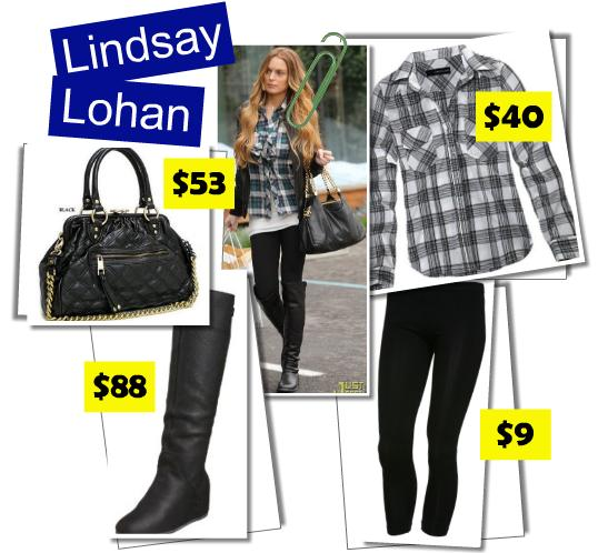 lindsay lohan plaid