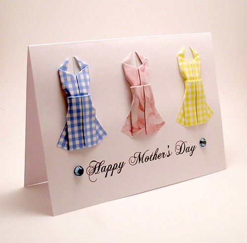 origami dress mothers day card a photo on flickriver