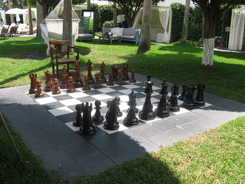BIG chess in the garden