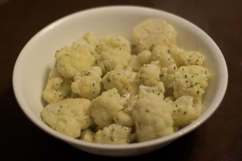 Gilded Fork Recipe Testing - Champagne Cauliflower