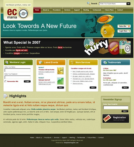 38 Free Elegant XHTML/CSS Website Templates - Hongkiat