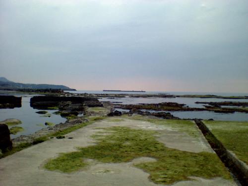 番神岬の建造物跡