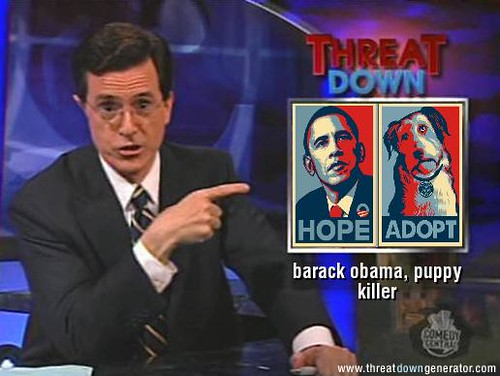 Threat Down - Barack Obama, Puppy Killer