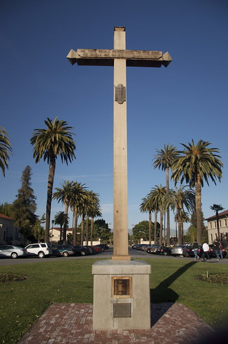 At the base of this cross is a piece of the True Cross. No, not THAT True Cross, but the original cross the Padres erected when they founded Mission Santa Clara.