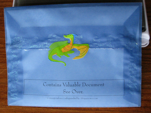 Valuable document, guarded by dragon