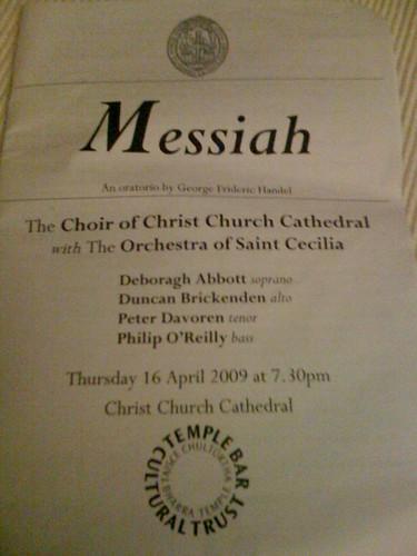 Booklet for Handels Messiah