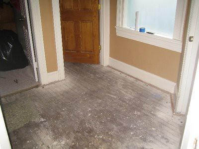 2 - landing carpet removed