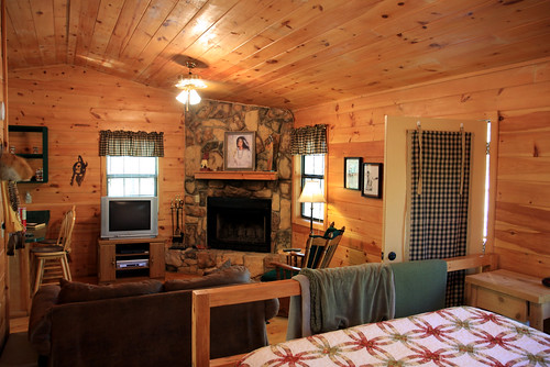 Inside the little cabin
