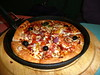 Vegetable Supreme (with pepperoni added) pan pizza at Pizza Hut (Scorpions and Centaurs) Tags: england food mushroom cheese restaurant italian vegetable fresh meat pizza meal dining peppers pan onion pizzahut pepperoni supreme baked blackolives