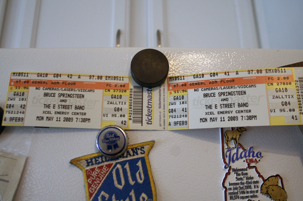 Our tickets to the concert, Pit party, here we come!