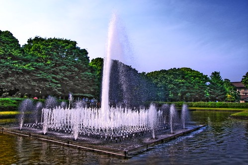 Fountain in Ueno Park
