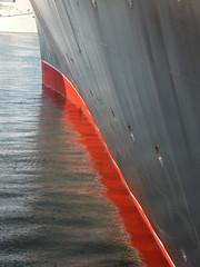 The last picture (prondis_in_kenya) Tags: ocean voyage cruise reflection ship atlantic autumncolours bow queenelizabeth2 cunard qe2 transatlantic liner gangway lastpicture forum15