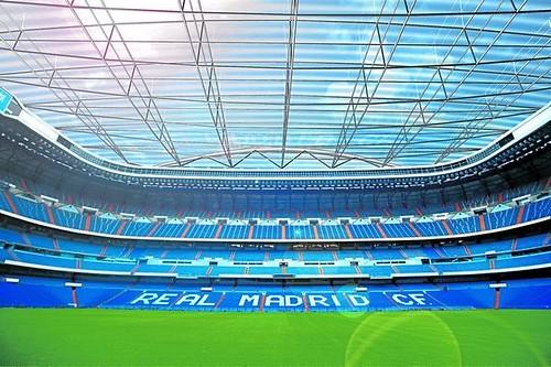 Santiago Bernabéu: Projecto de Cobertura (fotomontagem)