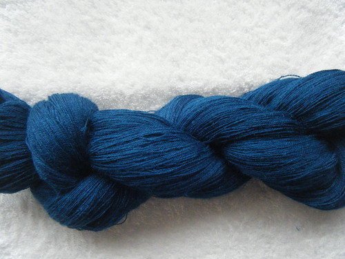1300m of glenora laceweight in alpaca/silk - peacock