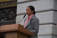 Dr Pratima Gupta at the Vigil for Dr George Tiller at San Francisco City Hall (Steve Rhodes) Tags: sf sanfrancisco california ca june inmemory memorial cityhall abortion vigil 2009 civiccenter candlelightvigil tiller prochoice sanfranciscocityhall june09 june2009 georgetiller