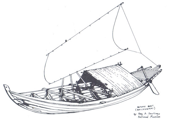 A National Museum Sketch of the Balangay