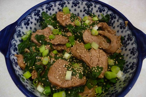 Four-Spice Pork with Spinach